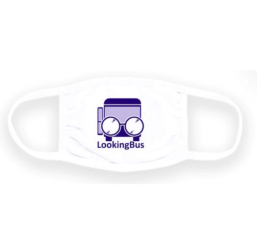 facemask with LookingBus logo